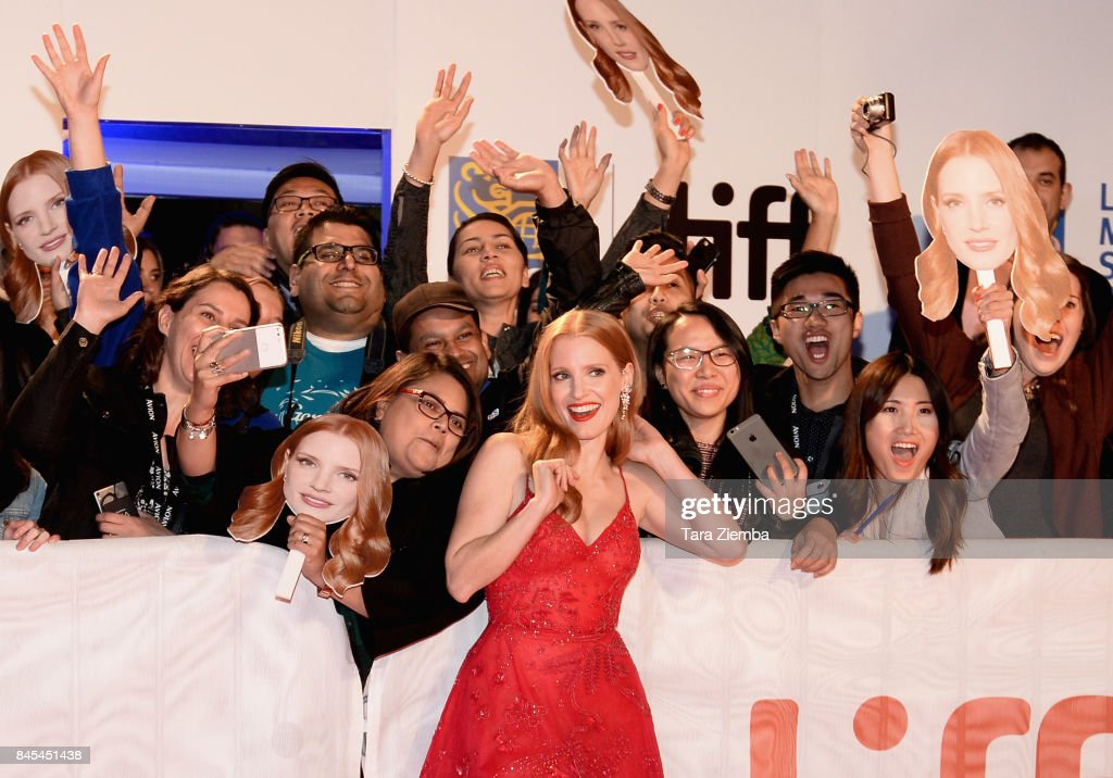 Jessica Chastain (C) attends the 'Woman Walks Ahead' premiere during the 2017 Toronto International Film Festival at Roy Thomson Hall on September 10, 2017 in Toronto, Canada.