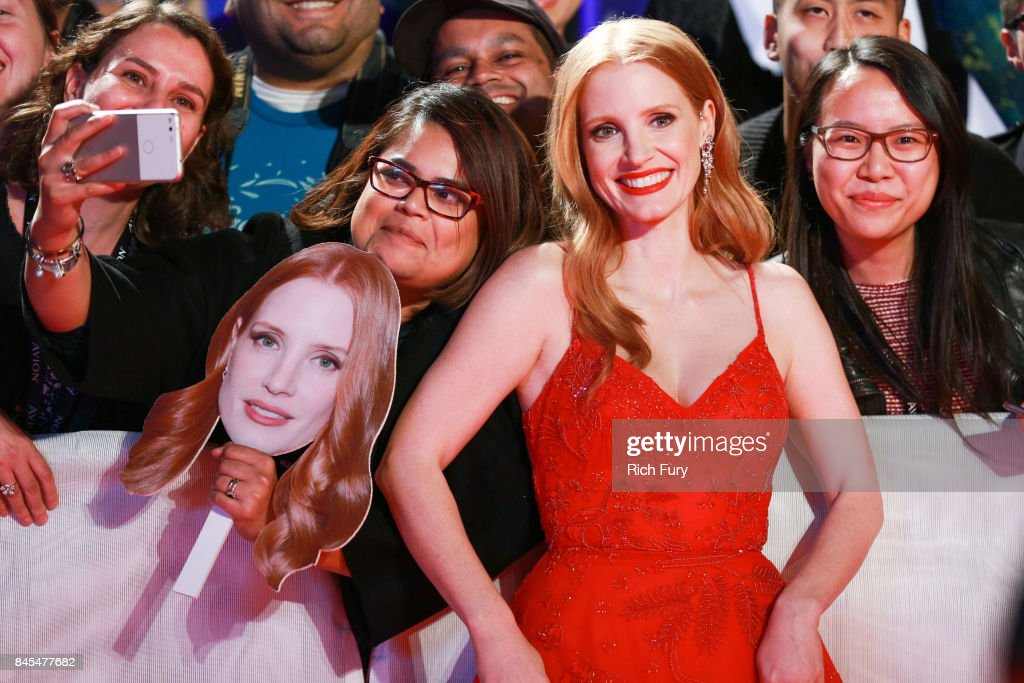 Jessica Chastain attends the 'Woman Walks Ahead' premiere during the 2017 Toronto International Film Festival at Roy Thomson Hall on September 10, 2017 in Toronto, Canada.