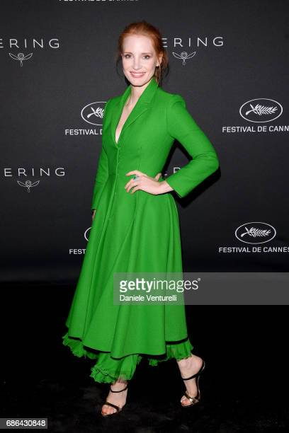 Jessica Chastain attends the Women in Motion Awards Dinner at the 70th Cannes Film Festival at Place de la Castre on May 21, 2017 in Cannes, France.