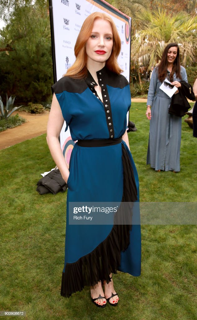 Jessica Chastain attends Variety's Creative Impact Awards and 10 Directors to Watch Brunch Red Carpet at the 29th Annual Palm Springs International Film Festival at Parker Palm Springs on January 3, 2018 in Palm Springs, California.