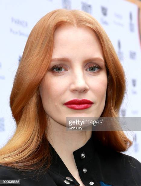 Jessica Chastain attends Variety's Creative Impact Awards and 10 Directors to Watch Brunch Red Carpet at the 29th Annual Palm Springs International...