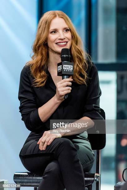 Jessica Chastain discuss The Zookeeper's Wife with the build series at Build Studio on March 21 2017 in New York City