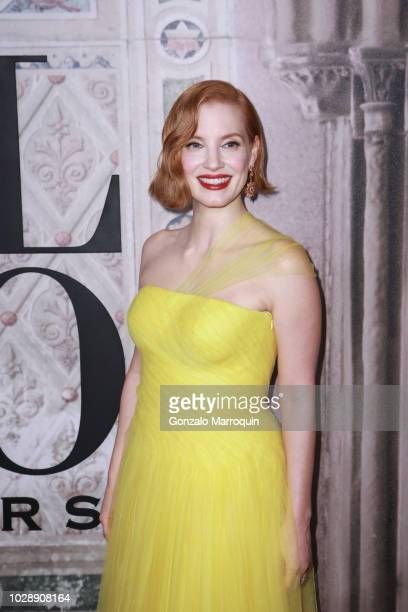 Jessica Chastain during the Ralph Lauren 50th Anniversary September 2018 New York Fashion Week at Bethesda Terrace on September 7 2018 in New York...