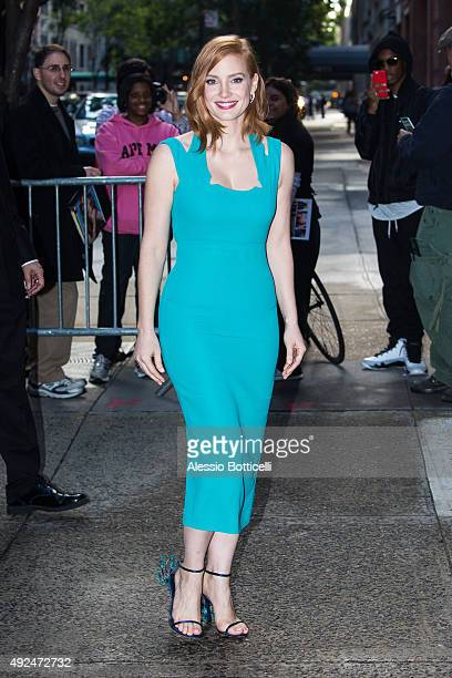 Jessica Chastain is seen at 'LIVE with Kelly and Michael' TV Show on October 13 2015 in New York City