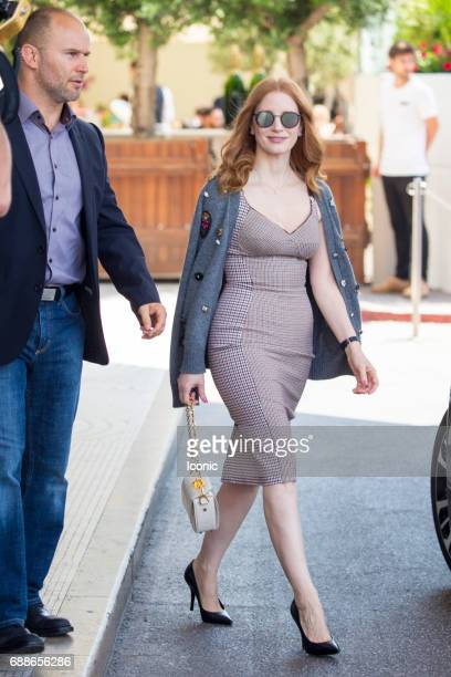 Jessica Chastain is seen during The 70th Annual Cannes Film Festival on May 26, 2017 in Cannes, France.
