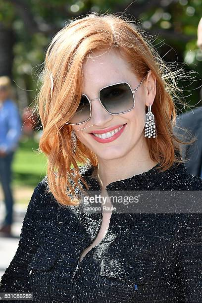 Jessica Chastain is seen during the annual 69th Cannes Film Festival at on May 12 2016 in Cannes France