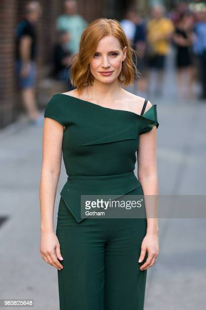 Jessica Chastain is seen in Midtown on June 25 2018 in New York City