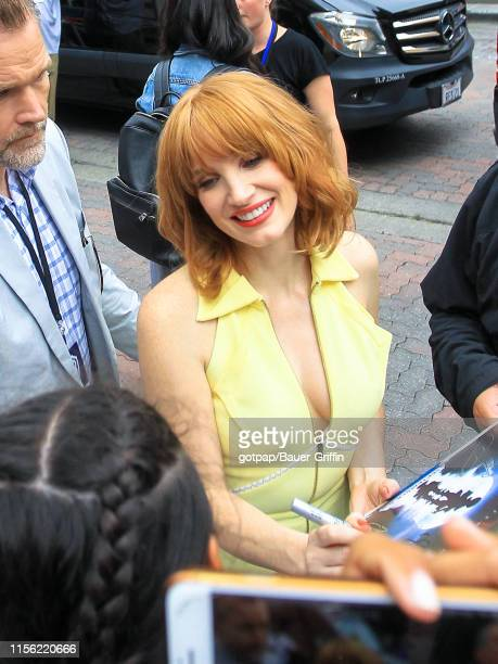 Jessica Chastain is seen on July 17 2019 in San Diego California