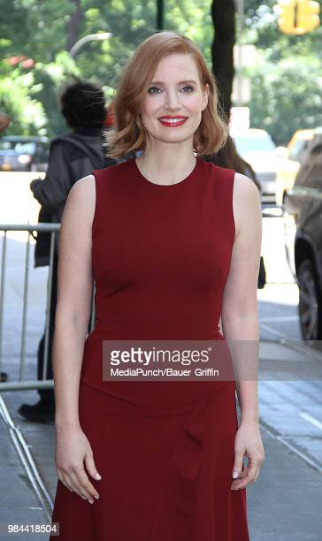 Jessica Chastain is seen on June 26 2018 in New York City