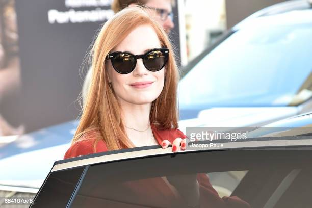 Jessica Chastain is spotted leaving Hotel Martinez during the 70th annual Cannes Film Festival at on May 17 2017 in Cannes France
