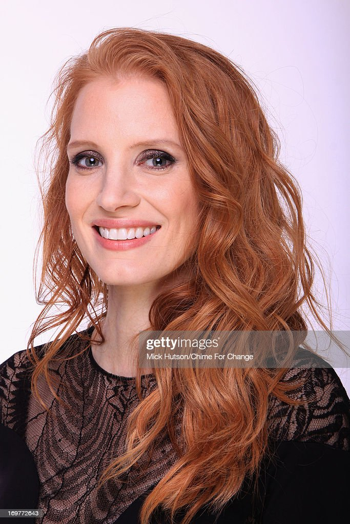 Jessica Chastain poses for a portrait backstage at the 'Chime For Change: The Sound Of Change Live' Concert at Twickenham Stadium on June 1, 2013 in London, England. Chime For Change is a global campaign for girls' and women's empowerment founded by Gucci with a founding committee comprised of Gucci Creative Director Frida Giannini, Salma Hayek Pinault and Beyonce Knowles-Carter.