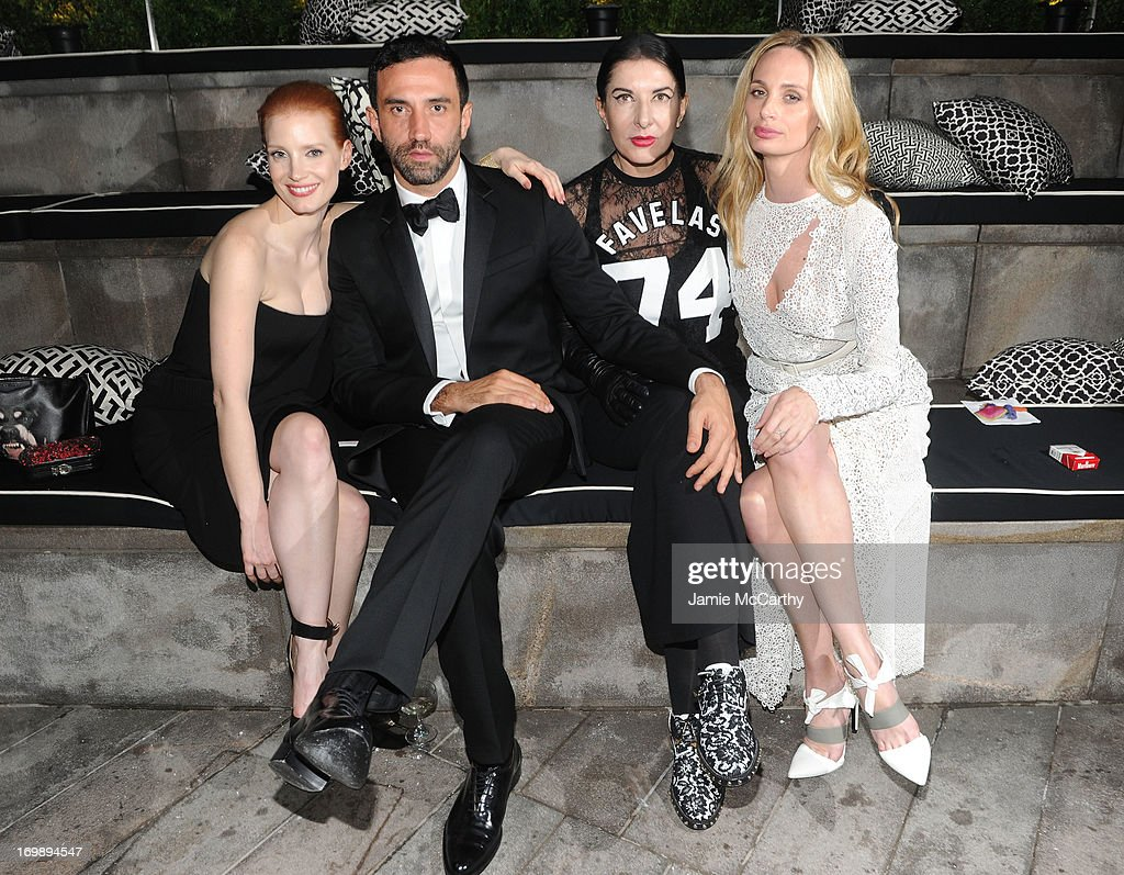Jessica Chastain, Riccardo Tisci, Marina Abramovic, and Lauren Santo Domingo attend the 2013 CFDA Fashion Awards on June 3, 2013 in New York, United States.