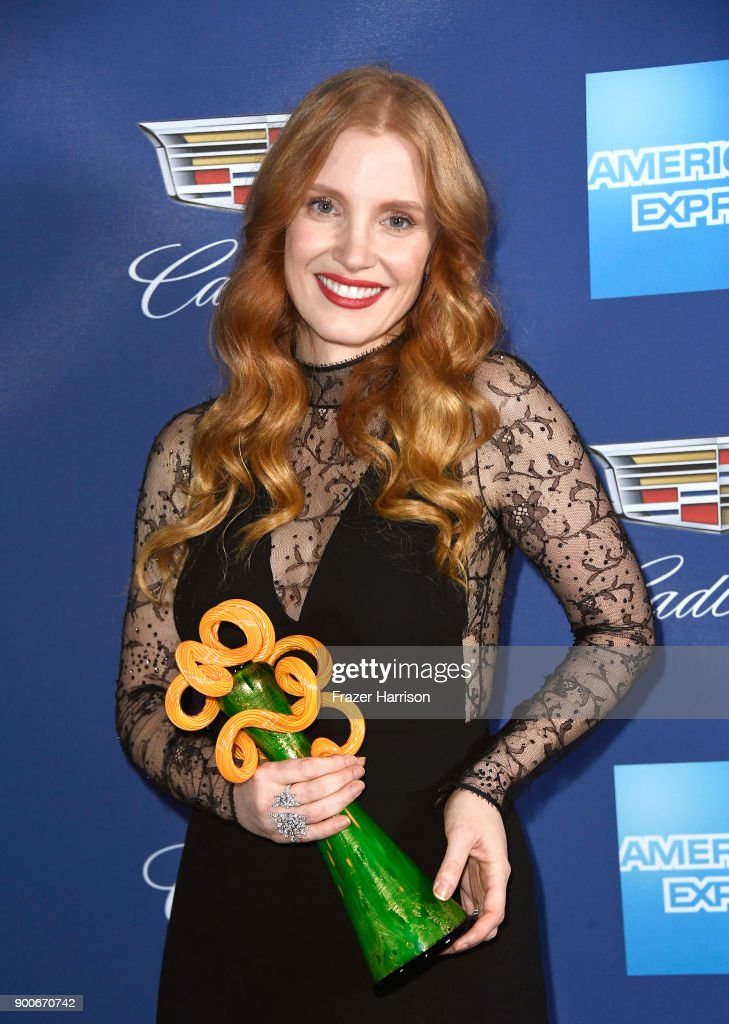 Jessica Chastain, winner of the Chairman's Award attends the 29th Annual Palm Springs International Film Festival Awards Gala at Palm Springs Convention Center on January 2, 2018 in Palm Springs, California.