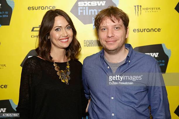 Jessica Chobot and director Gareth Edwards attend GODZILLA THE JAPANESE ORIGINAL during the 2014 SXSW Music Film Interactive Festival at Alamo Ritz...
