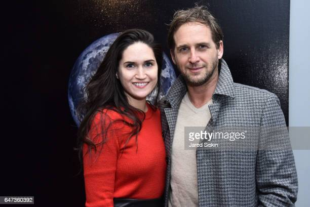 Jessica Ciencin Henriquez and Josh Lucas attend Damian Loeb Sgr A* at Acquavella Galleries on March 2, 2017 in New York City.