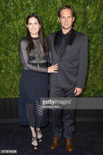Jessica Ciencin Henriquez and Josh Lucas attend the CHANEL Tribeca Film Festival Artists Dinner at Balthazar on April 24, 2017 in New York City.