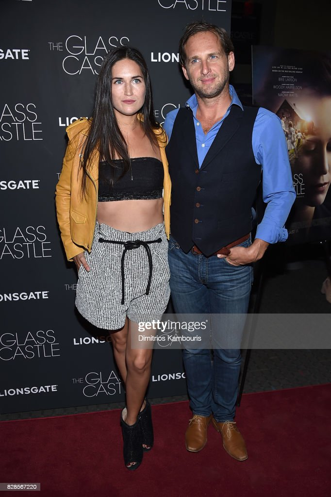 Jessica Ciencin Henriquez (L) and Josh Lucas attend 'The Glass Castle' New York Screening at SVA Theatre on August 9, 2017 in New York City.