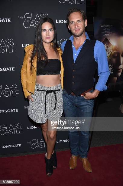 "Jessica Ciencin Henriquez and Josh Lucas attend ""The Glass Castle"" New York Screening at SVA Theatre on August 9, 2017 in New York City."