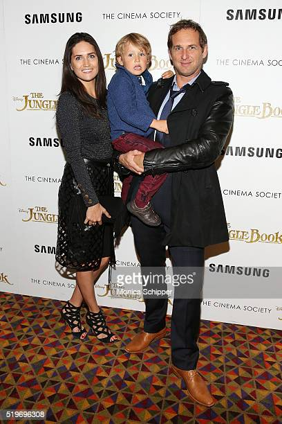 Jessica Ciencin Henriquez Noah Rev Maurer and actor Josh Lucas attend Disney With The Cinema Society Samsung Host A Screening Of The Jungle Book at...
