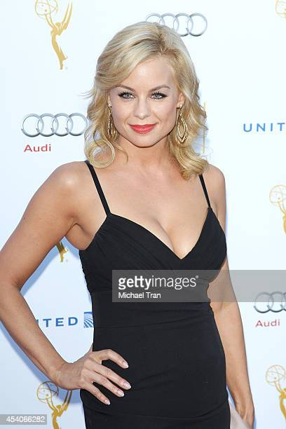 Jessica Collins arrives at the Television Academy Performers Nominee Reception for The 66th Emmy Awards held at Spectra by Wolfgang Puck at the...
