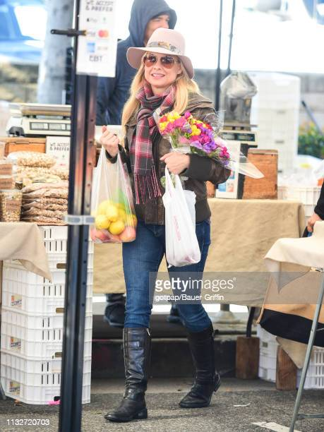Jessica Collins is seen on March 24 2019 in Los Angeles California