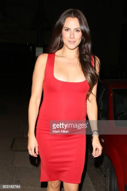 Jessica Cunningham at The Playboy Club on February 22 2018 in London England