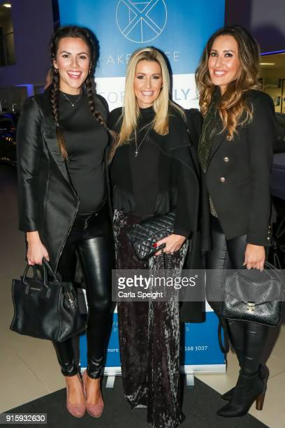 Jessica Cunningham Leanne Brown and Elissa Corrigan attend the one year anniversary event for Bentley and Akea Life on February 8 2018 in Knutsford...