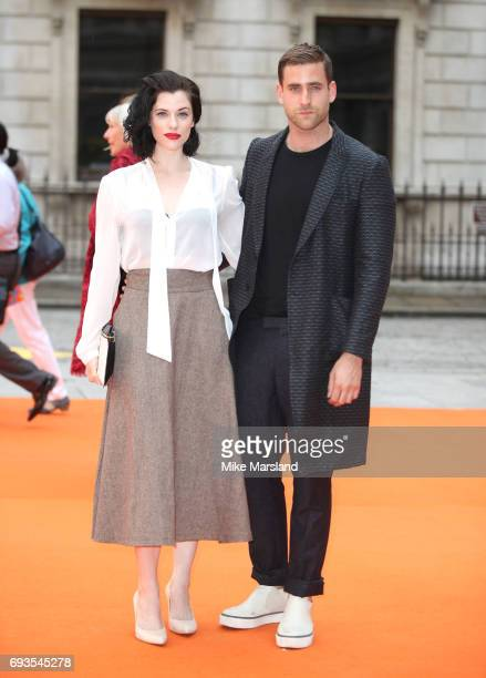 Jessica de Gouw and Oliver JacksonCohen attends the preview party for the Royal Academy Summer Exhibition at Royal Academy of Arts on June 7 2017 in...