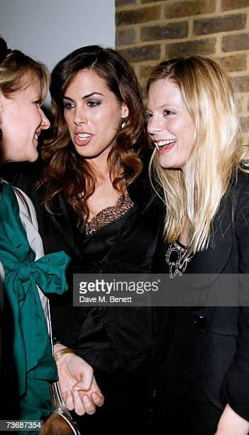 Jessica de Rothschild and Emilia Fox attend the a fundraiser party for the Almeida Theatre at the Almeida Theatre on March 23 2007 in London England