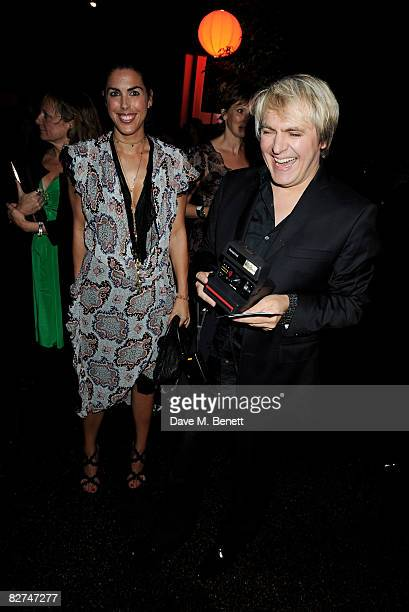 Jessica de Rothschild and Nick Rhodes attend the The Serpentine Gallery Summer Party at the Serpentine Gallery on September 9 2008 in London England