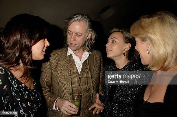 Jessica de Rothschild Bob Geldof Jeanne Marine and Lady Lynn de Rothschild attend the after party following the press night of The Lover/The...