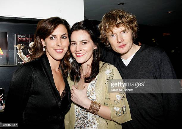 Jessica de Rothschild Louise Delamere and Julian RhindTutt attend the a fundraiser party for the Almeida Theatre at the Almeida Theatre on March 23...