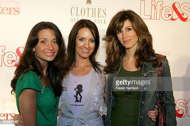 Jessica Denay Joy Tilk Bergin and Karma McCain from the Hot Moms Club arrive at Life Style Magazine's Stylemakers 2005 a runway show and charity...
