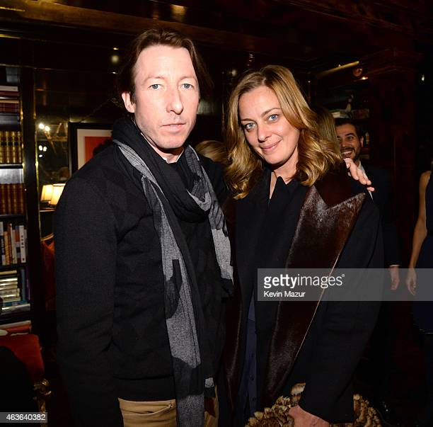Jessica Diehl and Craig McDean attend the Tommy Hilfiger 30th anniversary cocktail reception on February 16 2015 in New York City