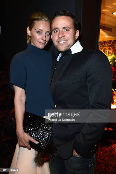 Jessica Diehl and guest attend the Dinner and Party for the Moncler New Flagship Opening in Paris at Rue Du Faubourg SaintHonore on September 27 2013...