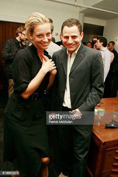 Jessica Diehl and John Ortved attend Fashion Unites For Obama at Talavera Studios on October 10 2008 in New York City