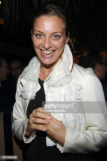 Jessica Diehl attends Afterparty for The Keith Tyson Exhibition 'Geno Pheno' at PaceWildenstein Gallery at Bungalow 8 on October 14 2005 in New York...