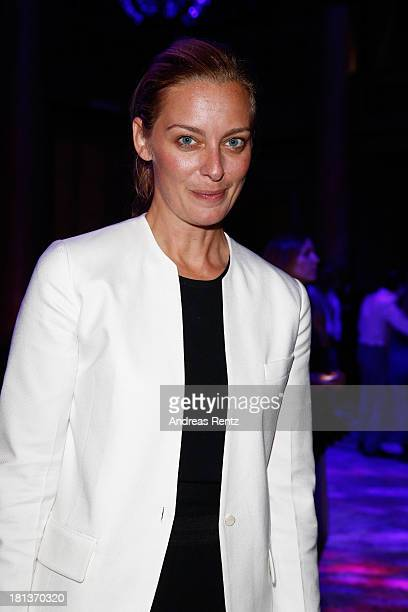 Jessica Diehl attends Agnona Collezione Zero By Stefano Pilati cocktail and Alison Moyet concert as a part of Milan Fashion Week Womenswear...