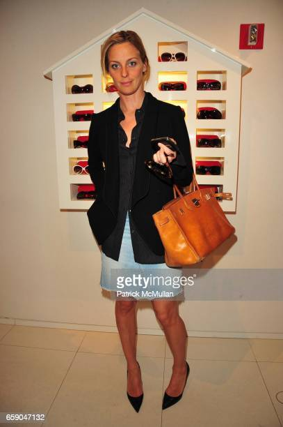 Jessica Diehl attends Moschino Toasts Ross Bleckner at Moschino NYC on April 28 2009