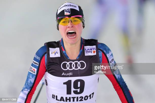 Jessica Diggins competes in the Women's 14KM Cross Country Sprint first quarter final on February 23 2017 in Lahti Finland
