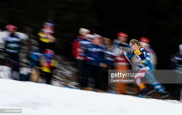 Jessica Diggins of the United States competes during the women's cross country sprint quarterfinal at the FIS nordic world cup Oberstdorf on January...