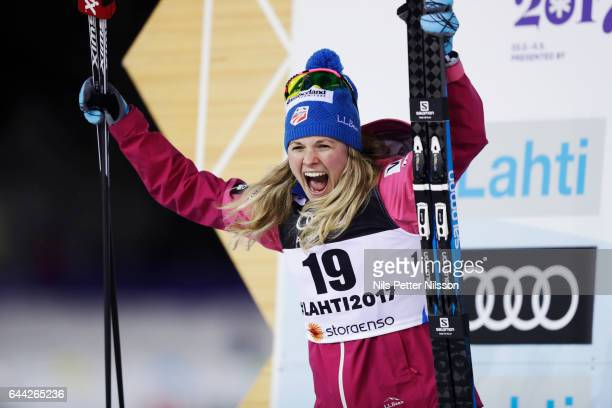 Jessica Diggins of USA during the cross country sprint during the FIS Nordic World Ski Championships on February 23 2017 in Lahti Finland
