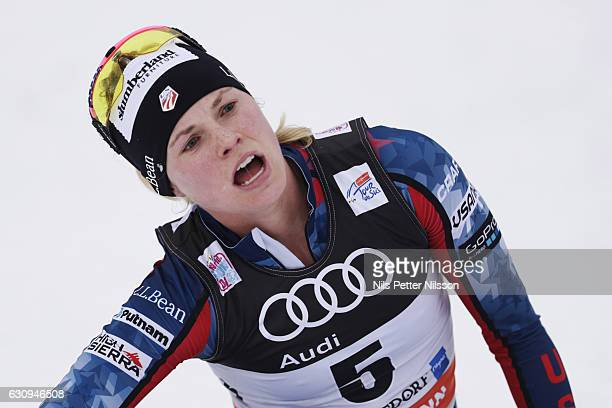 Jessica Diggins of USA during the women's 10 km F Pursuit on January 4 2017 in Oberstdorf Germany