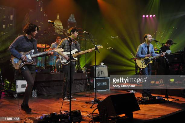 Jessica Dobson Joe Plumber Yuuki Matthews James Mercer and Richard Swift of The Shins perform on stage for KLRUTV Austin City Limits Live at The...