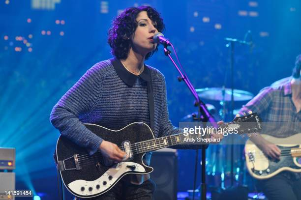 Jessica Dobson of The Shins performs on stage for KLRUTV Austin City Limits Live at The Moody Theatre on March 18 2012 in Austin Texas