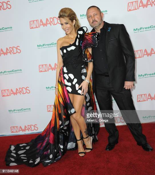 jessica drake and Brad Armstrong attend the 2018 Adult Video News Awards held at Hard Rock Hotel Casino on January 27 2018 in Las Vegas Nevada