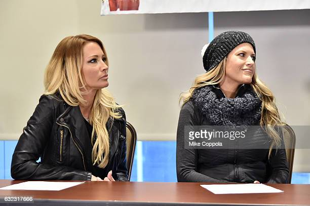 Jessica Drake and Temple Taggart during the Accusers of President Donald Trump Hold Press Conference With Attorney Gloria Allred At The Women's March...