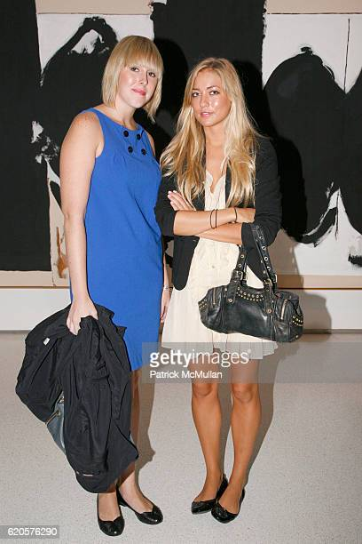 Jessica Duffett and Alina Kohlem attend HAUNCH OF VENISON opens Abstract Expression A World Elsewhere at 1230 Ave of the Americas on September 9 2008...