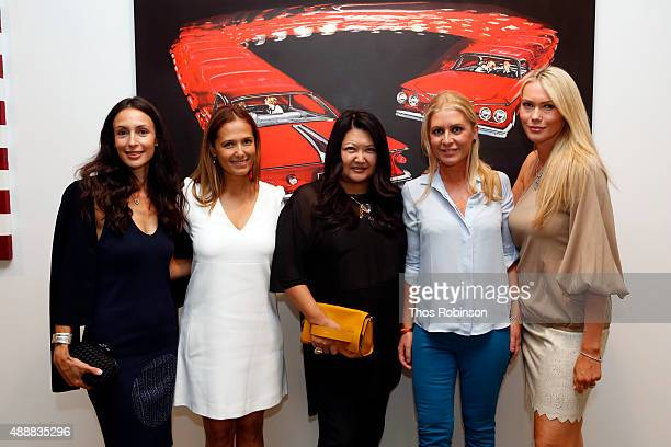 Jessica Edery Claudia Avendano Susan Shinn Catherine Schieldrop and Alexandra Cragg attend The Hoerle Guggenheim Gallery For Jan Larsen 'Market...
