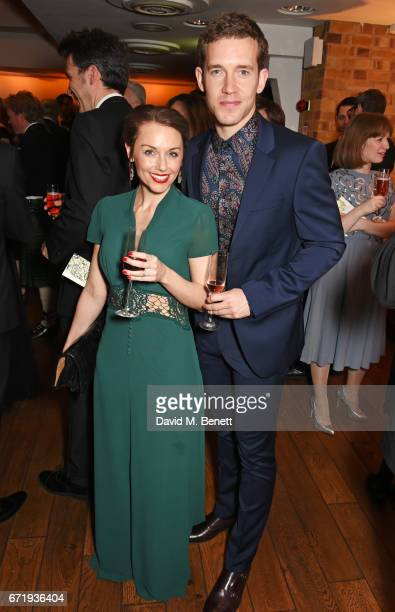 Jessica Ellerby and Nick Hendrix attend the British Academy Television Craft Awards at The Brewery on April 23 2017 in London United Kingdom